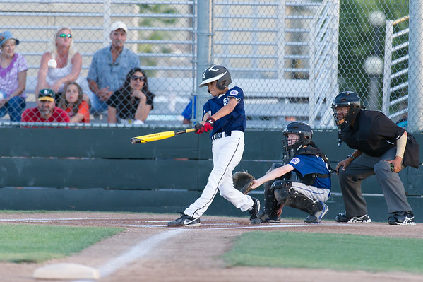 Roseville West Little League Major Tigers vs Rangers 5-2-14