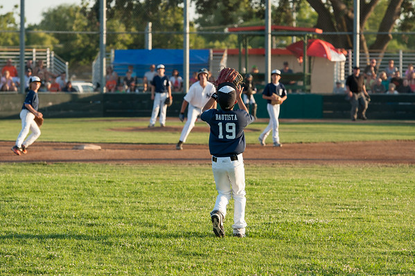 Roseville West Little League Major Tigers vs Yankees 6-1-14