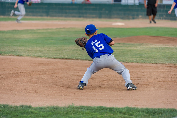 Roseville West Little League TOC Major Rangers vs Marlins 6-6-15