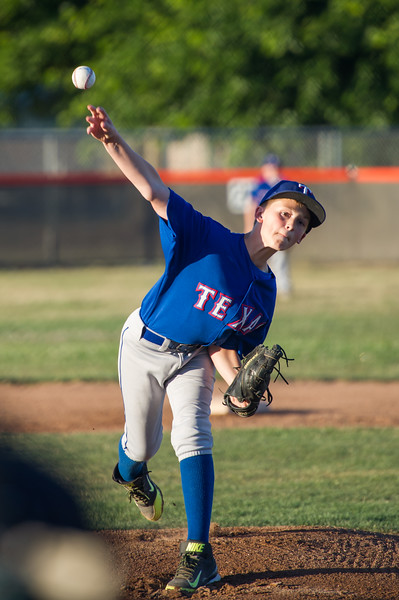 Roseville West Little League Major Rangers vs Nationals 5-30-15