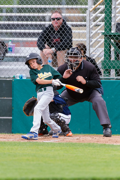 Roseville West Little League Major Tigers vs A's 3-30-14