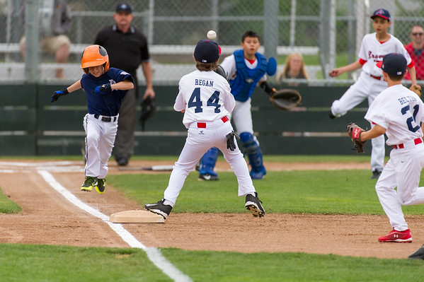 Roseville West Little League Major Tigers vs Braves 3-28-14