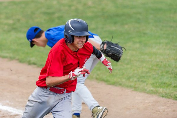 Roseville West Little League Jr. Angels vs Cubs 5-7-16