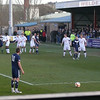 County captain Richard Brittain lines up a free-kick.