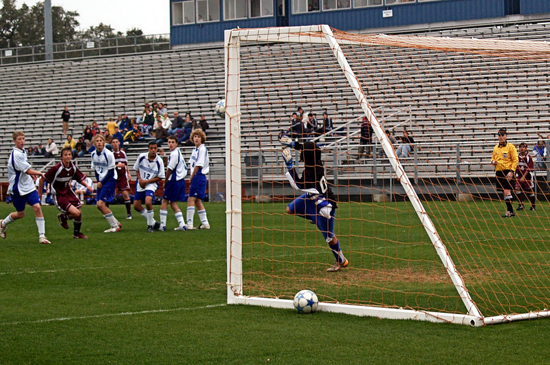 OLYMPUS DIGITAL CAMERA--The ball went over the wall and banged off the post.  Close, but no cigar.