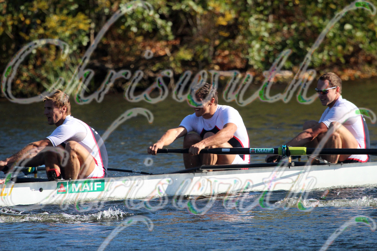 4th place for the French rowing team in the Championships Eights Men at the Head of the Charles River Regatta on October 20 2013.