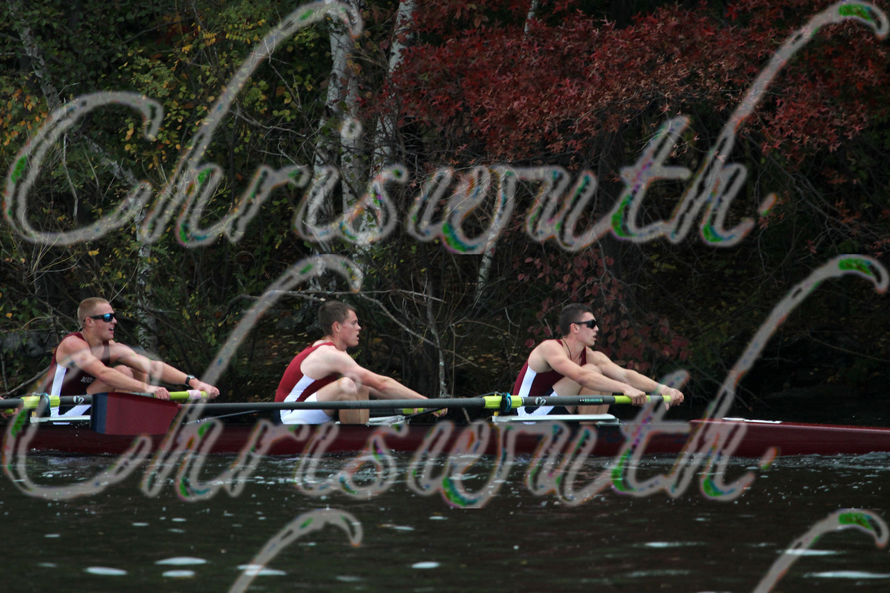 15st place for the New York Maritime College Crew in race 52 - Men's Lightweight Fours - at the 50th Head Of The Charles on October 19 2014.