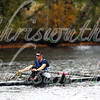 Jeffrey Endler from Colby College competing in race 28b - Men's Lightweight Singles - at the 52th Head of the Charles on October 22 2016.
