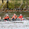 University of Miami competing in race 17 - Women's Club Fours - at the 52th Head of the Charles on October 22 2016.