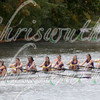 Amherst College Rowing Association competing in race 19 - Women's Club Eights- at the 52th Head of the Charles on October 22 2016.