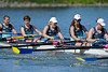 Women Novice 8 at the Big Row, Cal vs. Stanford, 2012-04-28, Redwood Shores, CA