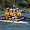 California Women's Rowing V4 lost the University of Washington by less than 2 seconds at Redwood Shores, CA,  2014-04-26