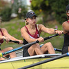 Stanford Cardinal women's rowing V8 falls to USC Trojans at Redwood Shores, CA, 2014-04-26