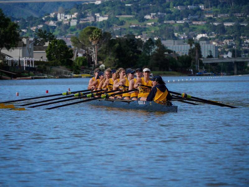 UC Santa Barbra Varsity Women at the 2016 Pac-12 Challenge  Redwood Shores CA, USA.