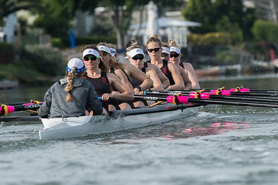 University of Louisville Women's Rowing at the PAC-12 Challenge, 2018
