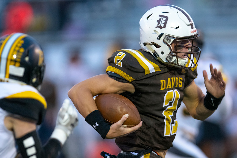 Roy High School faces off against Davis during the prep football game. In Kaysville, On September 18, 2020.  Chance Trujillo