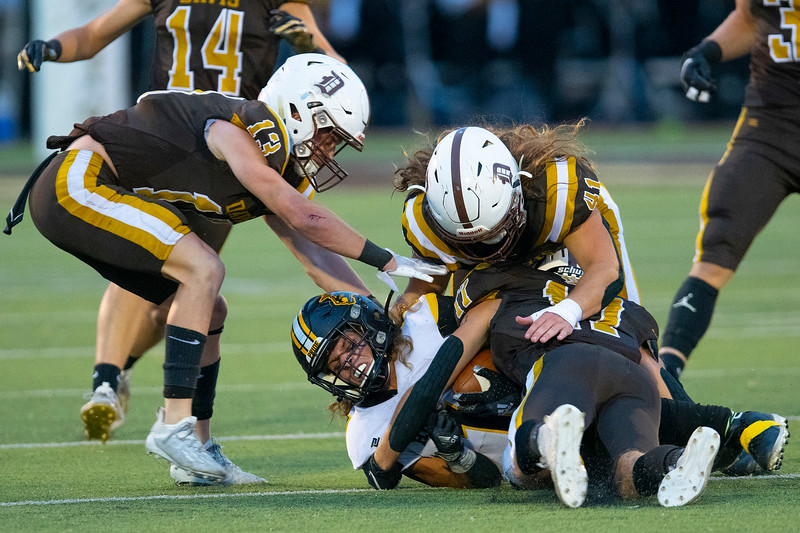 Roy High School faces off against Davis during the prep football game. In Kaysville, On September 18, 2020.