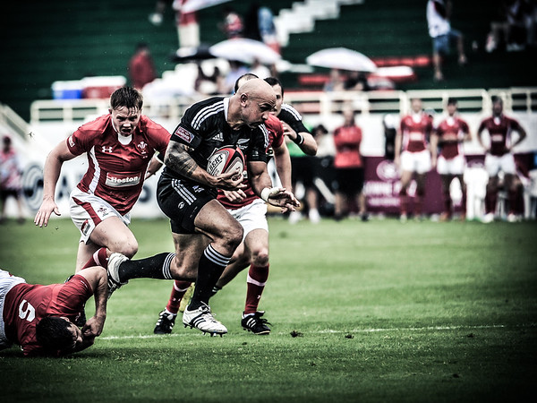 Rugby.  Emirates Airline Dubai Rugby Sevens