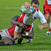 England score against Kenya at the Dubai 7's.  Photo by: Stephen Hindley