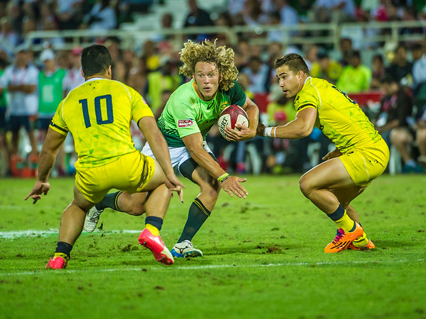 during the second day of the IRB Sevens World Series rugby tournament at the Emirates Airline Dubai Rugby Sevens in Dubai, UAE, on Saturday, Dec. 6th, 2014. Photo by: Stephen Hindley/Sportdxb/Photosport
