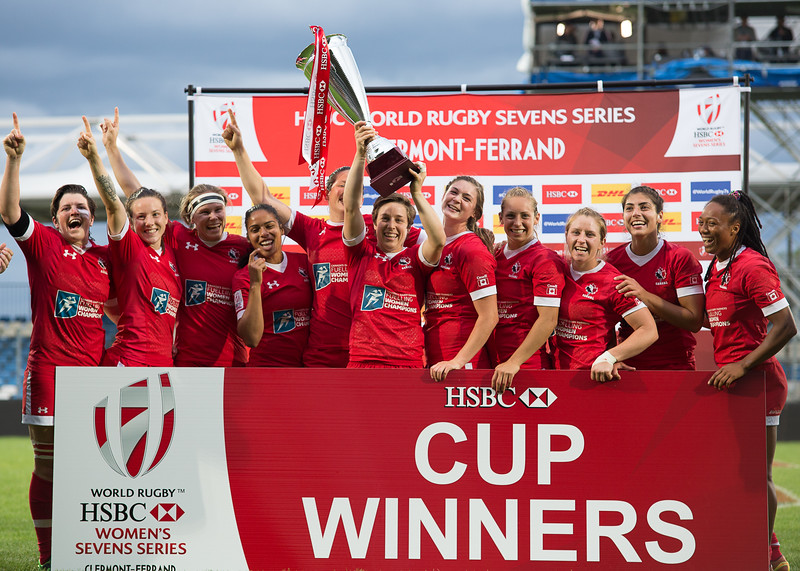 2015/16 HSBC World Rugby Women's Sevens Series - Clermont-Ferrand, Cup Final , Match 34  CANADA v AUSTRALIA (WINNER GAME 27 v WINNER GAME 28) May 29th 2016 20:00 ko Stade Gabriel Montpied, Clermont-Ferrand, France