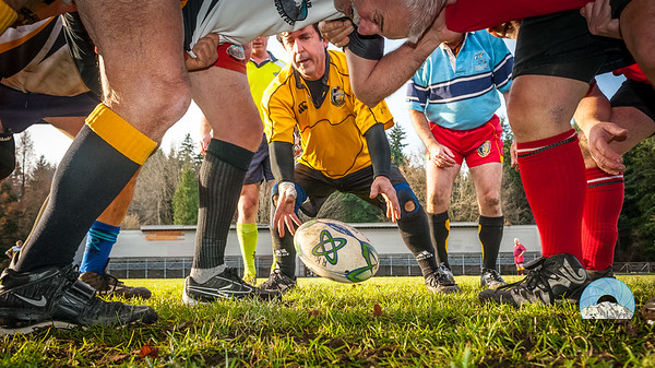 60 year olds and over compete at the PNW Over 40 Rugby Union Annual Christmas Rugby Festival