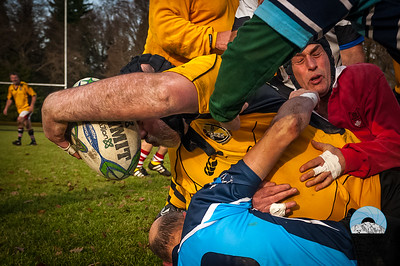 50 year olds and older compete at the PNW Over 40 Rugby Union Annual Christmas Rugby Festival