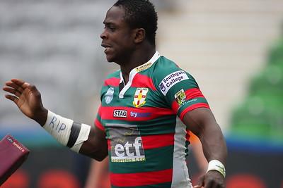 Former Whitehaven player Ade Adebisi.