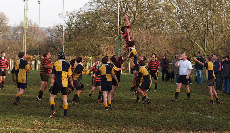The lineout worked well. This is one one of the 7 of theirs that we won. A great lift& good hands Ewan