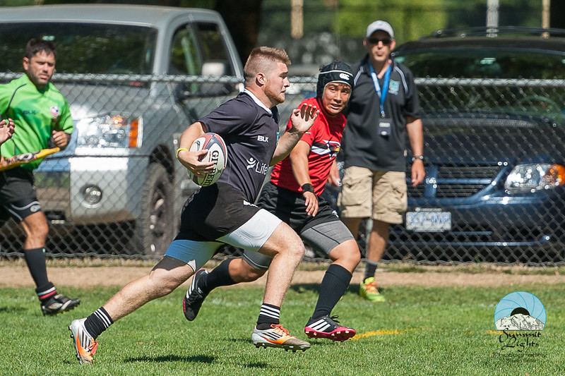 Rugby Washington Loggers A defeated Rugby Oregon Redhawks B 40-0 in the Cup semifinal at Starfire Sports Stadium.
