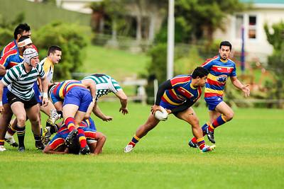 Swindale Shield  rugby match between Tawa and Old Boys-University at Lyndhurst Park, Tawa, Wellington on 18 April 2015. Tawa won 35-29.