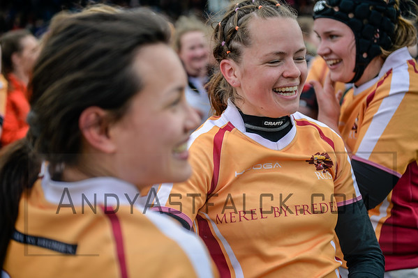 16-04-2016: Rugby: RUS v AAC Rugby: Amsterdam  Mae-Ling Stuyt and Marklieke Broer from RUS   Fotograaf Andy Astfalck