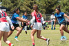 Action from the final match of the Girls' 17th Annual High School National Rugby Championship