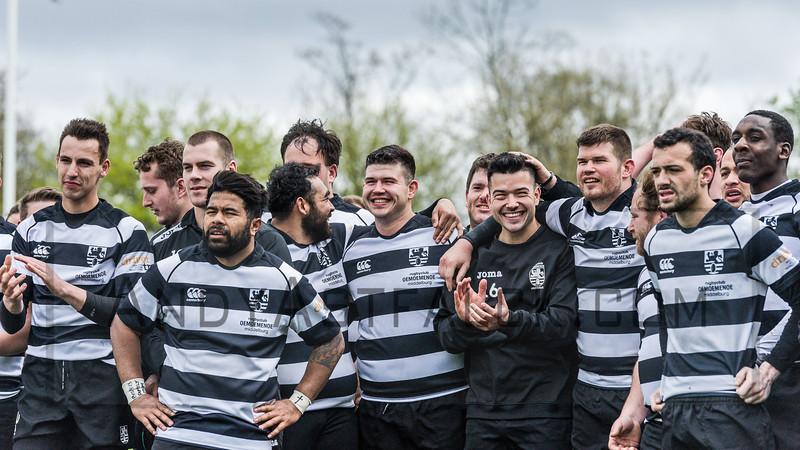 16-04-2016: Rugby: RC Amstelveense v RC Oemoemenoe: Amsterdam  Oemoemenoe wins the Plate Final  Fotograaf Andy Astfalck