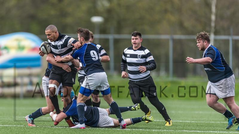 16-04-2016: Rugby: RC Amstelveense v RC Oemoemenoe: Amsterdam    Fotograaf Andy Astfalck