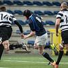 16-04-2016: Rugby: RC Amstelveense v RC Oemoemenoe: Amsterdam<br /> <br /> L/R Luca Wullems from RC Oemoemenoe, Aaron Lane from ARC and Quinten van Dijk from RC Oemoemenoe<br /> <br /> Fotograaf Andy Astfalck
