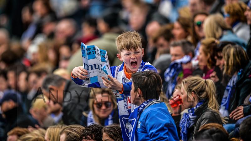 16-04-2016: Rugby: RC Hilversum v The Dukes : Amsterdam  Hilversum fans  Fotograaf Andy Astfalck