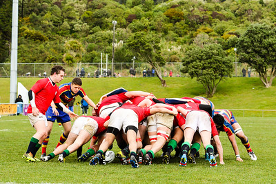 Rugby union game played between Tawa v MSP, Under-21, Semi-final of the John E Kelly Memorial Cup, at Jerry Collins Stadium, Porirua, New Zealand, on 6 August 2016.  Game won 11-8 to Tawa.