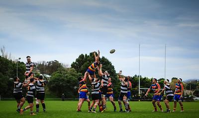 Premier Rugby union match between Tawa v Oriental-Rongotai at Lyndhurst Park, Tawa, Wellington, New Zealand on 25 June 2016. Final score 30-22 to Oriental-Rongotai