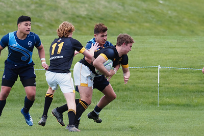 Action during the rugby match played between Aotea College v Wellington College, played at Aotea College, Porirua, Wellington, New Zealand,  19 September 2020.  Final score 38-33  to  Wellington College.