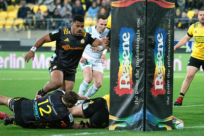 Hurricanes v Chiefs,  played at Wellington, New Zealand, on 8 August 2020.