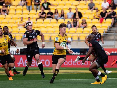 Hurricanes v Sharks,  played at Wellington, New Zealand, on 15  Feb 2020
