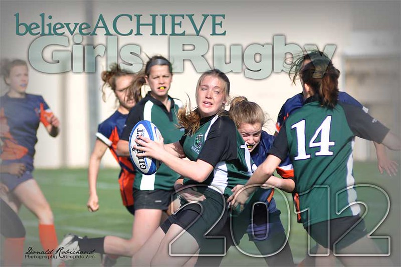 "sport-4GirlsRugby-12x18W<br /> This image is formatted to print 12"" x 18""<br /> Image can be substituted."