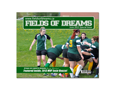 Formal print of the cover of my 200 page 2013 Girls Rugby coffee table book.