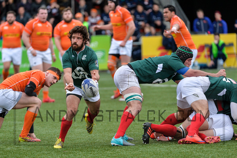 AMSTERDAM, NETHERLANDS MARCH 04: Francisco Pinto Magalhaes of Portugal during the Rugby Europe Trophy match between the Netherlands and Portugal at the National Rugby Centre Amsterdam on March 04, 2017 in Amsterdam, Netherlands