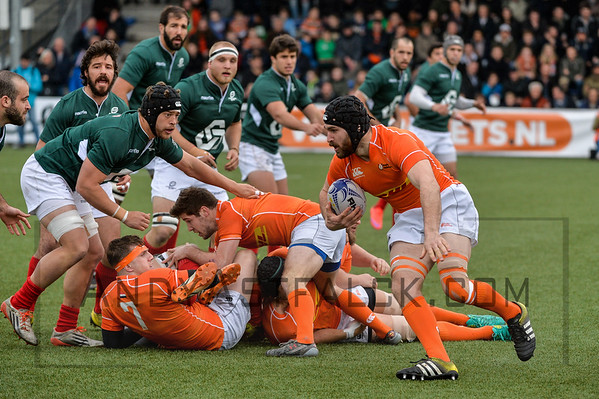 AMSTERDAM, NETHERLANDS MARCH 04: Chesney Crosby of the Netherlands during the Rugby Europe Trophy match between the Netherlands and Portugal at the National Rugby Centre Amsterdam on March 04, 2017 in Amsterdam, Netherlands