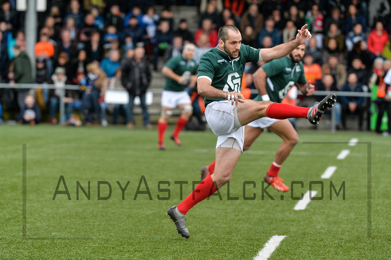 AMSTERDAM, NETHERLANDS MARCH 04: Nuno Penha Costa of Portugal during the Rugby Europe Trophy match between the Netherlands and Portugal at the National Rugby Centre Amsterdam on March 04, 2017 in Amsterdam, Netherlands