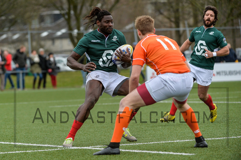 AMSTERDAM, NETHERLANDS MARCH 04: Aderito Esteves of Portugal during the Rugby Europe Trophy match between the Netherlands and Portugal at the National Rugby Centre Amsterdam on March 04, 2017 in Amsterdam, Netherlands.