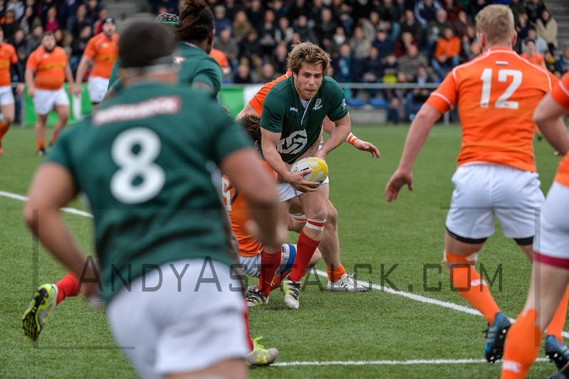 AMSTERDAM, NETHERLANDS MARCH  Manuel Villa Pereira of Portugal during the Rugby Europe Trophy match between the Netherlands and Portugal at the National Rugby Centre Amsterdam on March 04, 2017 in Amsterdam, Netherlands