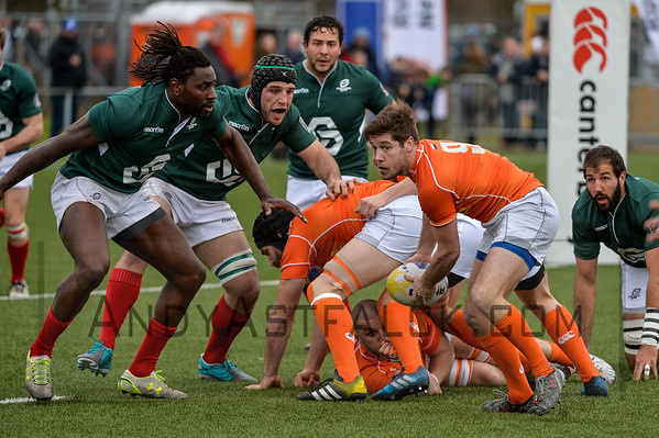 AMSTERDAM, NETHERLANDS MARCH 04: Rik Roovers of the Netherlands during the Rugby Europe Trophy match between the Netherlands and Portugal at the National Rugby Centre Amsterdam on March 04, 2017 in Amsterdam, Netherlands